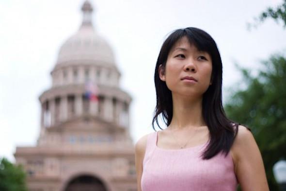 Danielle Wang is pictured in Washington, D.C. Danielle Wang's father, Wang Zhiwen, was imprisoned for 15 years and then suddenly shipped to a brainwashing Center. (via Wang family)