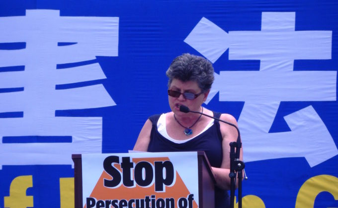 Faith J. H. McDonnell  of the The Institute on Religion & Democracy speaking in Washington D.C. on July 14.
