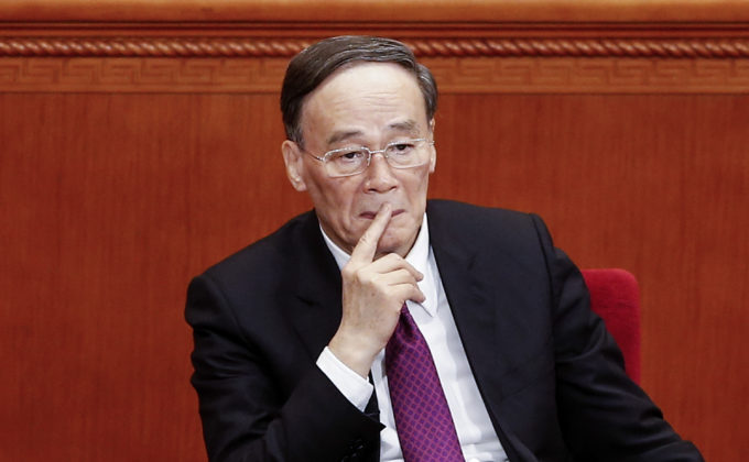 Secretary of the Central Commission for Discipline Inspection Wang Qishan attends the Chinese People's Political Consultative Conference in Beijing, China, on March 3. (Lintao Zhang/Getty Images)